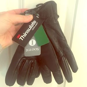 Thinsulate women's s/m genuine leather gloves NWT